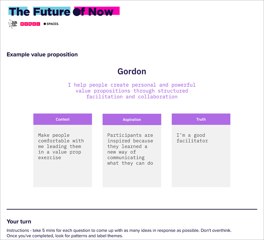 Value Proposition Canvas - MURAL template, Future Of Now
